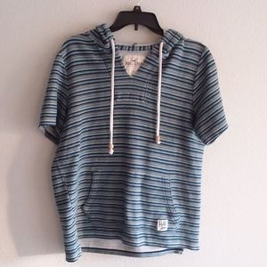 Hollister striped Poncho Style pullover size-M